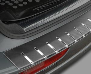 VW POLO V 5D HATCHBACK od 2009 Nakładka na zderzak z zagięciem (stal + folia karbonowa)