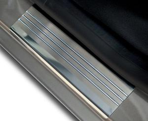PEUGEOT 407 5D HATCHBACK od 2004 Nakładki progowe - stal + poliuretan [ 4szt ]