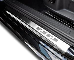 BMW X5 II (E70) od 2006 Nakładki progowe - stal [ 4szt ]