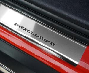 RENAULT CLIO III 3D HATCHBACK 2005-2012 Nakładki progowe STANDARD połysk 2szt