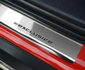 BMW X5 II E70 od 2006 Nakładki progowe STANDARD połysk 4szt