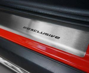 BMW X5 III F15 od 2013 Nak�adki progowe STANDARD mat 4szt