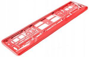 Ramka pod tablice rejestracyjną Metalizowana Czerwona