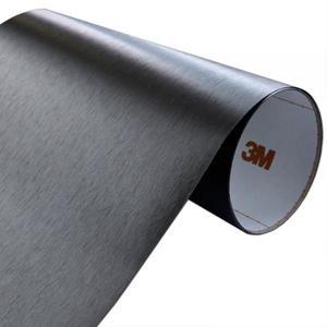 Folia Szczotkowane Aluminium Czarne 3M ME1175 30x50cm