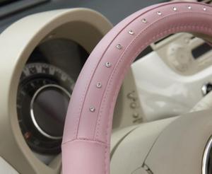 Nakładka skórzana na kierownicę Pink Diamond - 2863890818