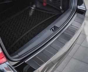 BMW 5 E61 Touring 2007-2010 Nakładka na zderzak TRAPEZ Czarna szczotkowana - 2857518786