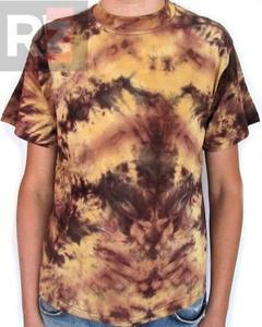 Koszulka barwiona jasno brązowa Running Bear - 2829283554