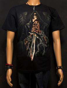 Koszulka świecąca w ciemności marki Rock Eagle - ANIOŁ ŚMIERCI - 2829283837