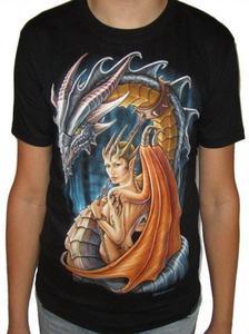 Koszulka z dwustronnym nadrukiem - SMOCZYCA - 2829283141