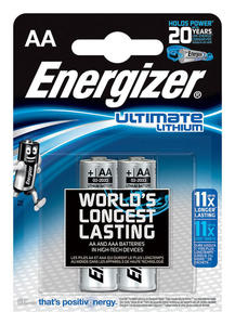 Bateria ENERGIZER Ultimate Lithium, AA, L91, 1,5V, 2szt. - 2829139753