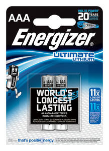 Bateria ENERGIZER Ultimate Lithium, AAA, L92, 1,5V, 2szt. - 2829139754