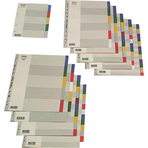 Przekładki A4 Maxi- plastikowe kolorowe. Bantex. 12 kolorów - 2829135770