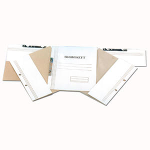 Skoroszyt kartonowy oczkowowy biały, 50 sztuk. połówka - 2829135779