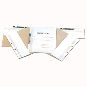 Skoroszyt kartonowy oczkowy biały, 50 sztuk. pełny - 2829135780