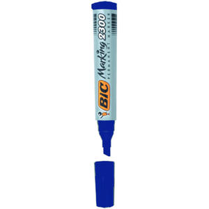 Marker permanentny Bic NB-2300, ścięta końcówka. niebieski - 2829136154