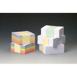 Wkład papierowy - kostka kolorowa z kartkami luzem. 85x85x40mm - 2829136946