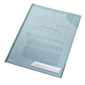 Folder A4 Leitz Combifile usztywniony. Koszulki / ofertówki Leitz. przezroczysty niebieski - 2829137815