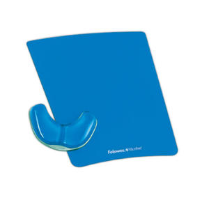 Podkładka pod mysz i nadgarstek Health-V Crystal. Fellowes. PALM - niebieska - 2829137980