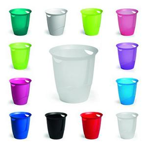 Kosz na śmieci 16l Durable Trend, niebieski-przezroczysty - 2829138909
