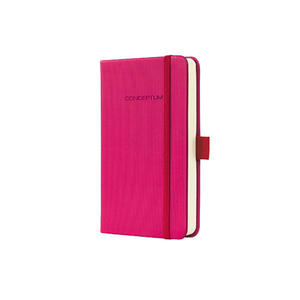 Notatnik SIGEL Conceptum okładka w prążki, A6, w kratkę, różowy - 2829139329