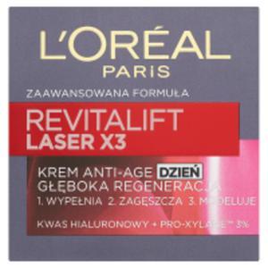 L'Oreal Paris Revitalift Laser X3 Krem przeciwzmarszczkowy Anti-Age głęboka regeneracja dzień - 2875387598