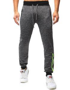 Spodnie męskie dresowe baggy antracytowe (ux0829) - Antracytowy - 2846995020