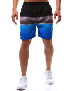 Spodenki kąpielowe męskie czarno-szaro-niebieskie (sx0366) - Czarny - 2850539609