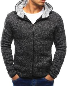 Bluza męska rozpinana z kapturem grafitowa (bx3032) - Grafit - 2856325442
