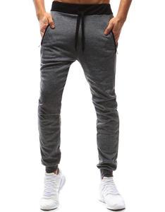 Spodnie męskie dresowe szare (ux0985) - Szary - 2856536509