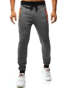 Spodnie męskie dresowe szare (ux0988) - Szary - 2856536512
