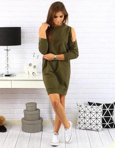 Sukienka dresowa Melissa khaki (ey0134) - Khaki - 2857439188
