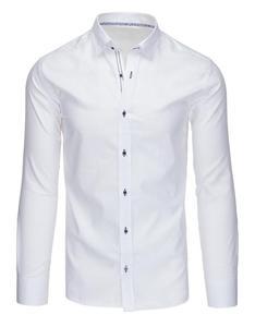 Elegancka koszula męska biała z długim rękawem (dx1368) - 2857594424