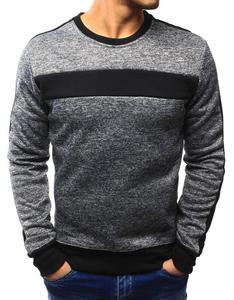 Bluza męska bez kaptura antracytowa (bx3131) - Antracytowy - 2857439211