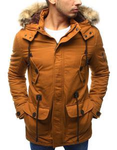 41cff2717df72 Męska kurtka parka zimowa kamelowa (tx1993) - Kamelowy Dstreet