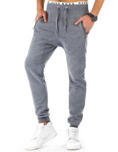 Spodnie męskie dresowe baggy szare (ux0771) - Szary - 2843803669