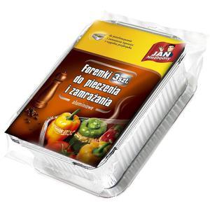 Jan Niezbędny Foremki aluminiowe do pieczenia i zamrażania 3szt _dsu24.pl - 2876121402