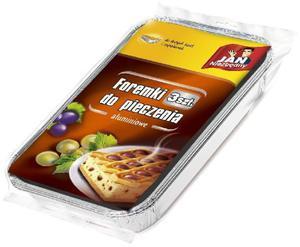 Jan Niezbędny Foremki aluminiowe do pieczenia zapiekanek i dużych ciast _dsu24.pl - 2876121403
