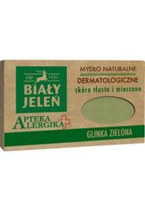 Biały Jeleń Apteka Alergika Mydło naturalne Glinka Zielona - skóra tłusta i mieszana 125g _dsu24.pl - 2876127224