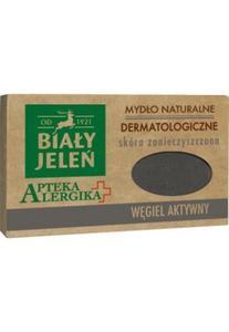 Biały Jeleń Apteka Alergika Mydło naturalne Węgiel Aktywny- skóra zanieczyszczona 125g _dsu24.pl - 2876127226