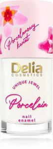 Delia Cosmetics Porcelain Lakier do paznokci 2w1 z kwiatem porcelany nr 1 bia - 2861040076
