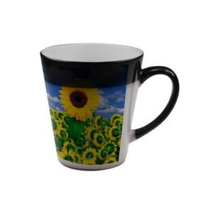 FOTOKUBEK ZE ZDJĘCIEM -Magiczny Latte czarny Magiczny kubek z nadrukiem - 2829792184