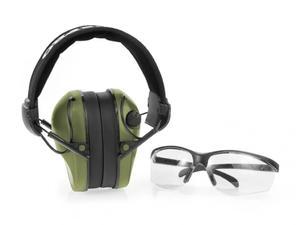 Słuchawki ochronne aktywne RealHunter Pro+okulary - 2875342124
