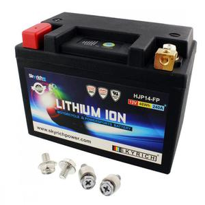 JMT LTM14B akumulator litowo-jonowy Li-Ion LiFePO4 ze wskaźnikiem 12V 48Wh 4Ah WODOODPORNY JMT akumulatory motocyklowe w SUPER CENY sklep motocyklowy MOTORUS.PL - 2864755663