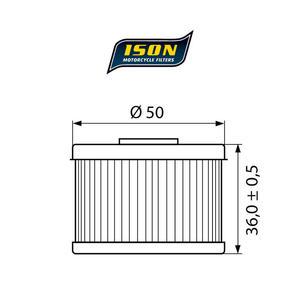 ISON 112 motocyklowy filtr oleju HF112 ISON filtry oleju do motocykli jak HifloFiltro w sklepie motocyklowym MOTORUS.PL - 2822433387