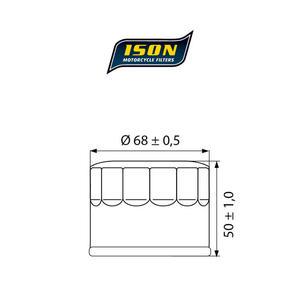 ISON 147 motocyklowy filtr oleju HF147 ISON filtry oleju do motocykli jak HifloFiltro w sklepie motocyklowym MOTORUS.PL - 2822433401