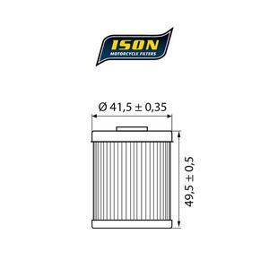 ISON 157 motocyklowy filtr oleju HF157 ISON filtry oleju do motocykli jak HifloFiltro w sklepie motocyklowym MOTORUS.PL - 2822433409
