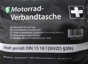 Apteczka motocyklowa zgodna z DIN13167 Apteczka motocyklowa SUPER CENA sklep motocyklowy MOTORUS.PL - 2822427861