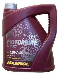MANNOL 7812 4-TAKT MOTORBIKE 10W40 Ester motocyklowy olej silnikowy 4L MANNOL super cena na olej...
