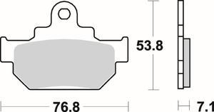 SBS 581 HF motocyklowe klocki hamulcowe komplet na 1 tarczę SBS motocyklowe klocki hamulcowe SUPER CENY sklep motocyklowy MOTORUS.PL - 2822442572