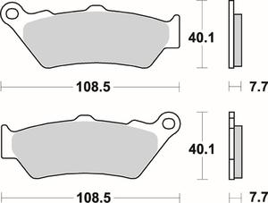 SBS 674 HS motocyklowe klocki hamulcowe komplet na 1 tarczę SBS motocyklowe klocki hamulcowe SUPER CENY sklep motocyklowy MOTORUS.PL - 2822442762